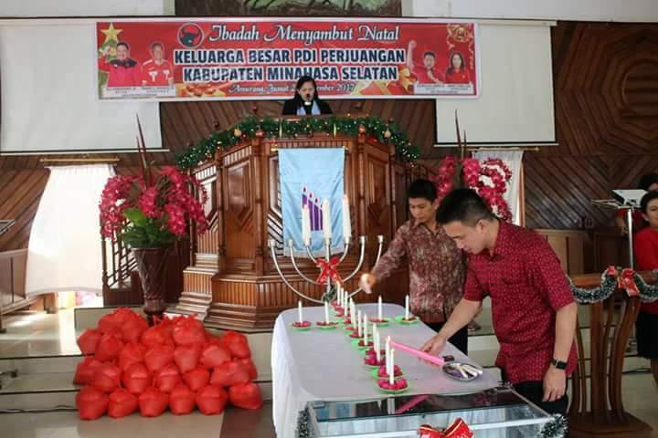 PDI-P Minsel Gelar Ibadah Pra Natal, Wongkar : Jangan Kejar Kekuasaan, Berdoalah Kepada Tuhan
