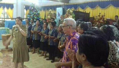 Bupati VAP Dan Jajaran Safari Natal di GMIM Maranatha Likupang I