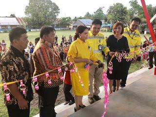 PT ARCHI Indonesia Melalui PT MSM dan TTN Bangun Stadion Mini di Minut