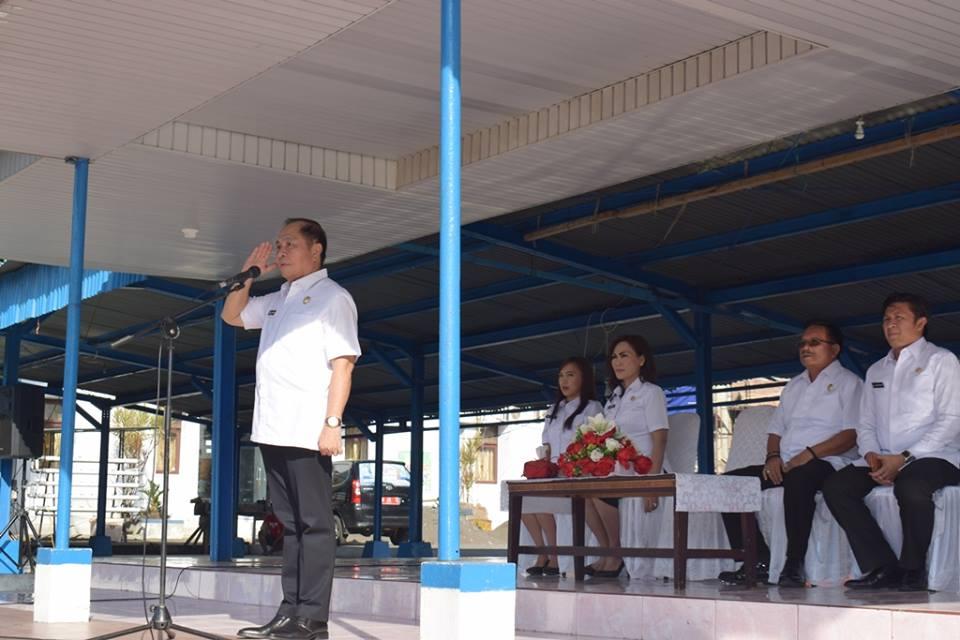 Wali Kota Bitung Pimpin Apel Perdana Tahun 2018