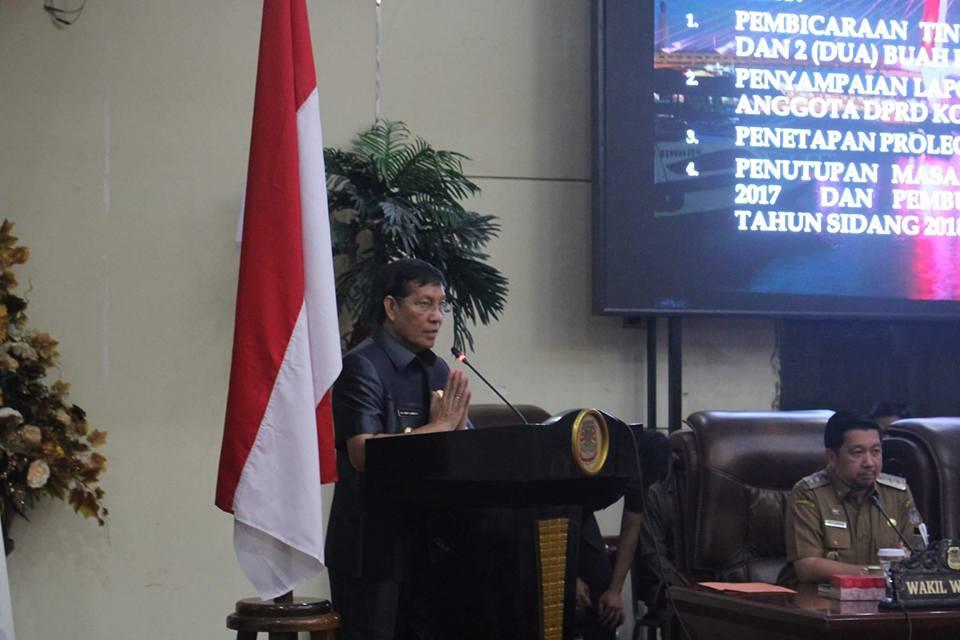 Walikota GSVL Apresiasi Kinerja Dewan Kota Manado