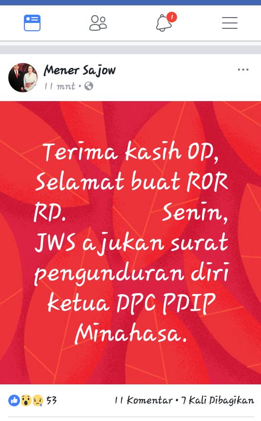 JWS: Terima Kasih OD, Selamat Buat ROR-RD