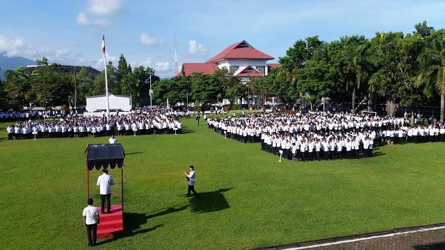 Gubernur Olly Pimpin Apel Kerja Perdana 2018 Pemprov Sulut