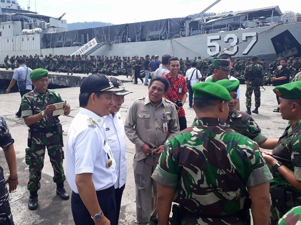 GSVL Ikut Sambut TNI-AD Penjaga Perbatasan RI-Timor Leste di Pelabuhan Bitung