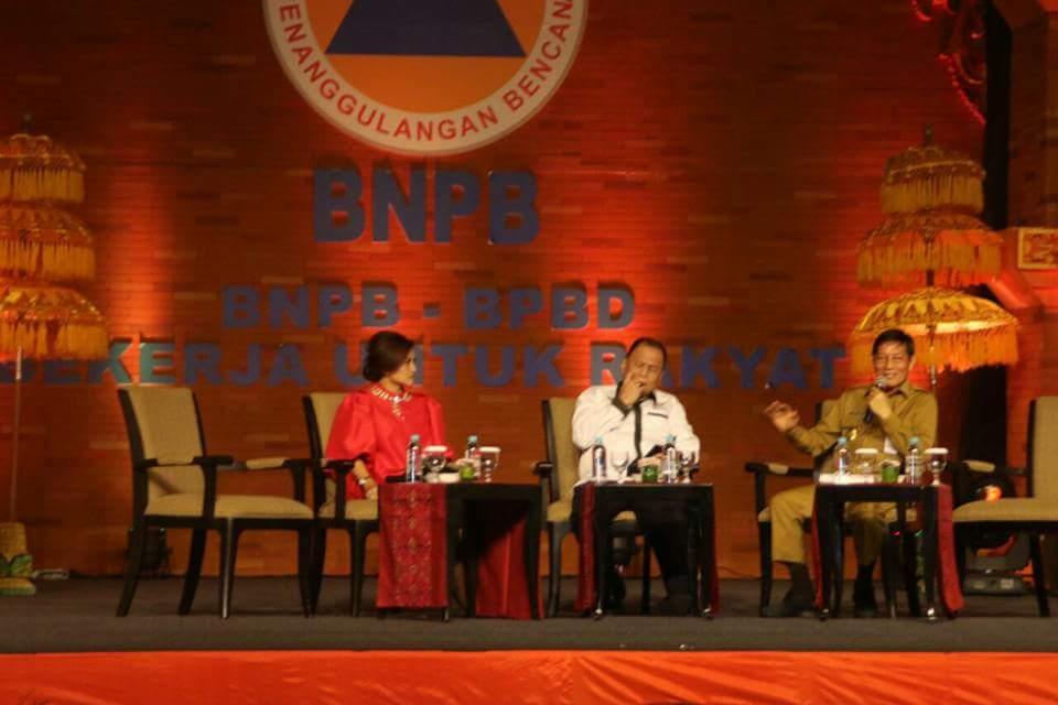 Dialog Rakernas BNPB, GSVL Paparkan Penanganan Pasca Banjir Bandang 15 Januari 2014 di Nusa Dua Bali