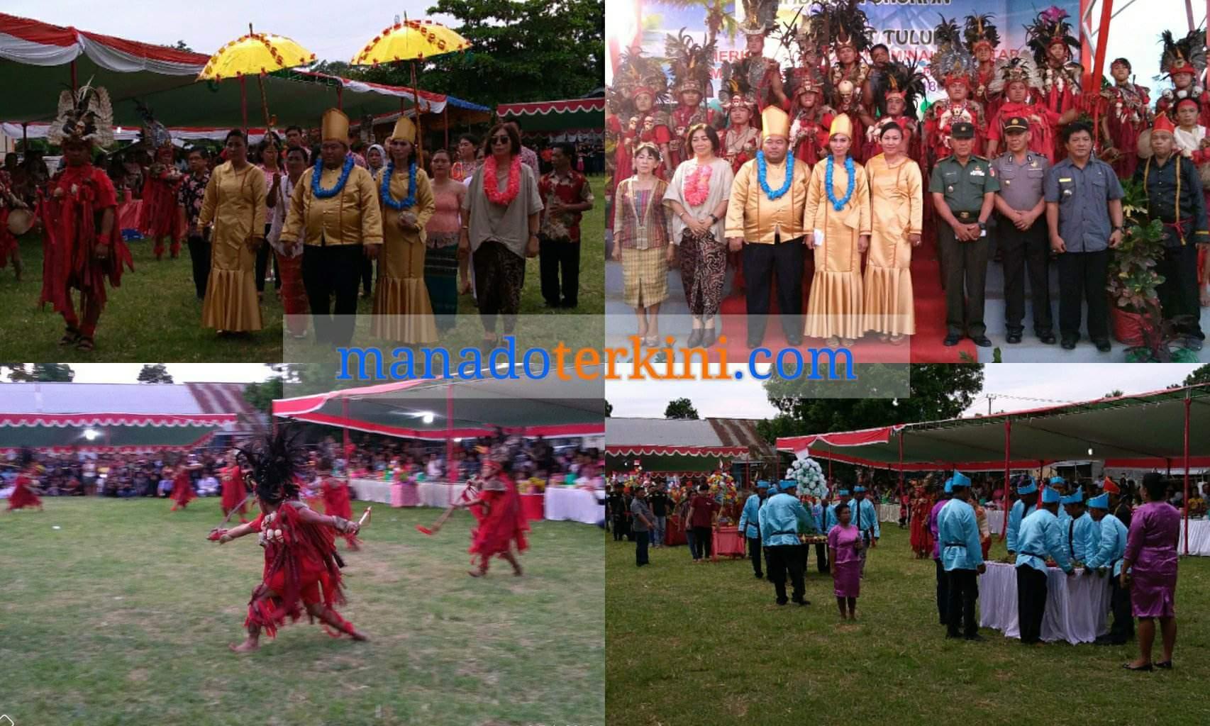 Tulude Desa Winuri Padukan Budaya Nusa Utara dan Minahasa
