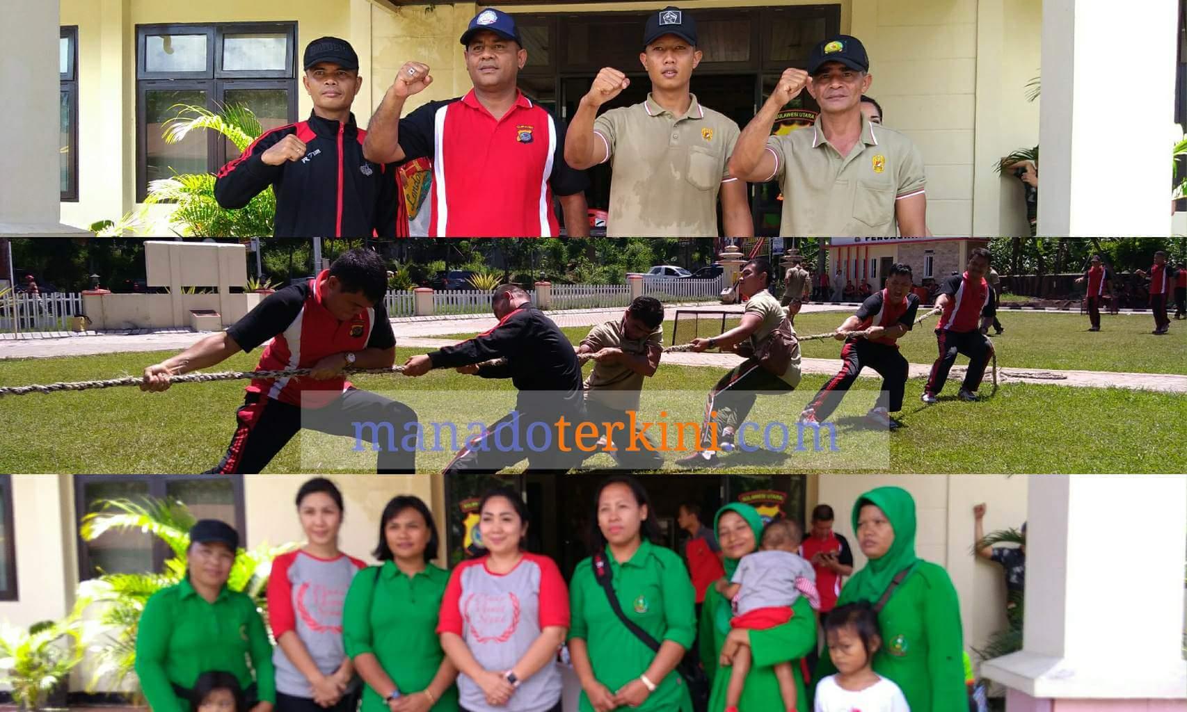 Tingkatkan Sinergitas TNI dan POLRI Di Minut Olahraga Bersama