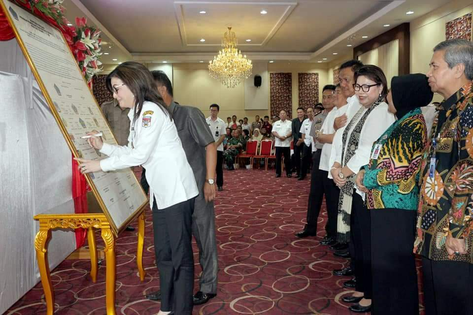 Bupati Minsel Hadiri Rakor dan Supervisi Bersama KPK
