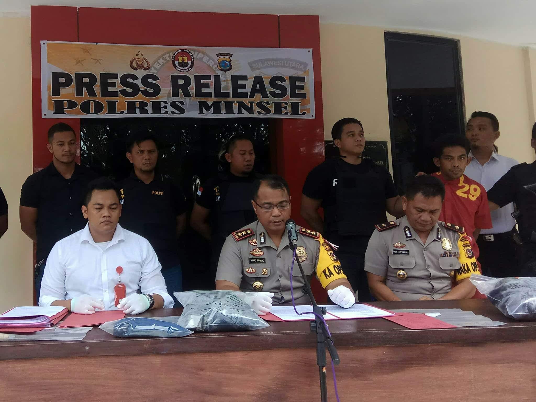 Ditantang Tuntaskan Kasus PT SAA, Kapolres Minsel : Pelaku Dalam Pengejaran Polisi