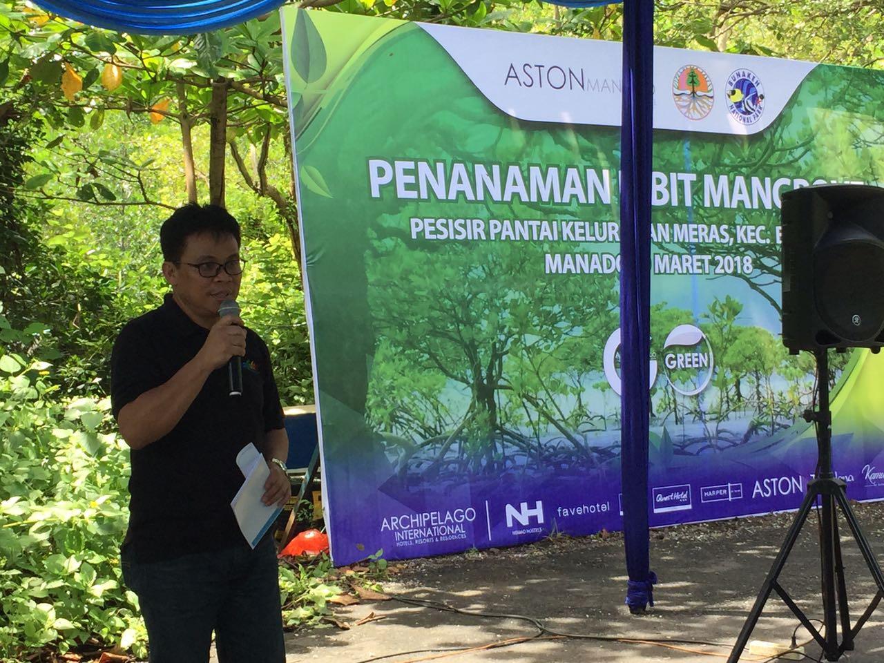 Pemkot Manado Bersama Ashton Hotel Tanam 1000 Pohon Bakau