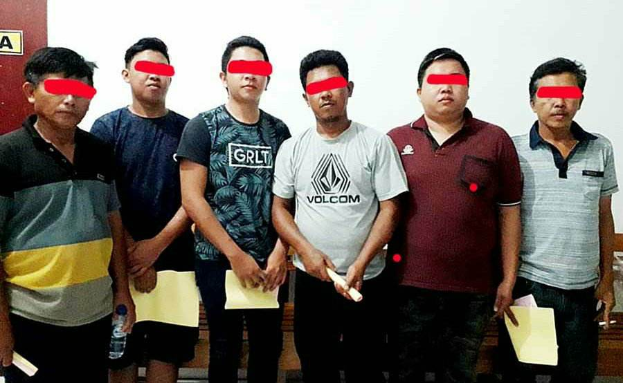 Polres Minut Tahan 6 Pelaku Pengeroyokan di Lumpias