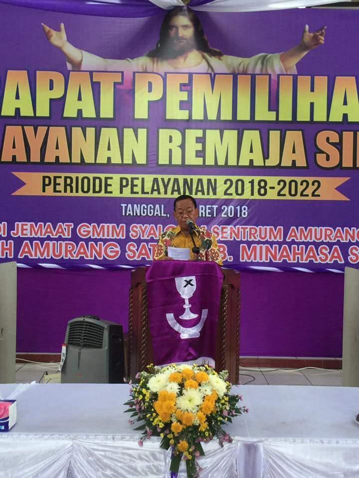 Wakili Bupati, Sekdakab Minsel Hadiri Rapat Pemilihan KPRS GMIM di Amurang