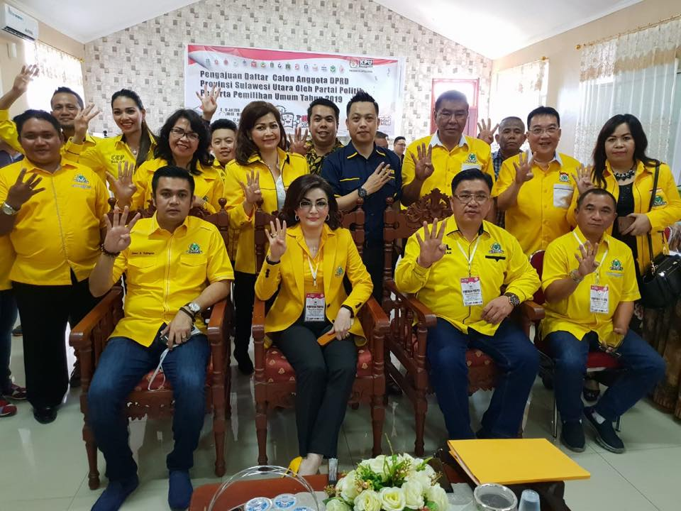 Ini Nama-nama Bacaleg Partai Golkar Untuk DPRD Sulut di Enam Dapil