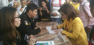 CEP Daftarkan Kader Golkar Maju Bacaleg DPRD Provinsi Sulut
