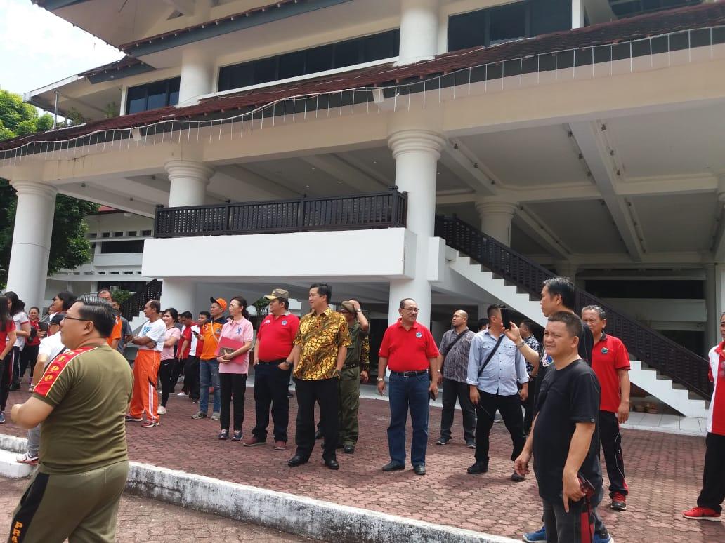 Gempa dan Kebakaran, Steven Kandouw dan Ribuan ASN Pemprov Berhamburan Keluar Ruangan
