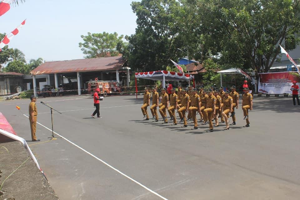 HUT Provinsi Sulut ke 54, Manado Raih Juara 1 Lomba Baris Berbaris