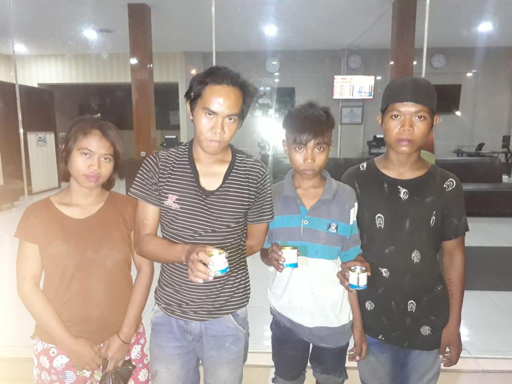 Empat Anak Mudah Mabuk Lem, di Amankan Patroli Rayon