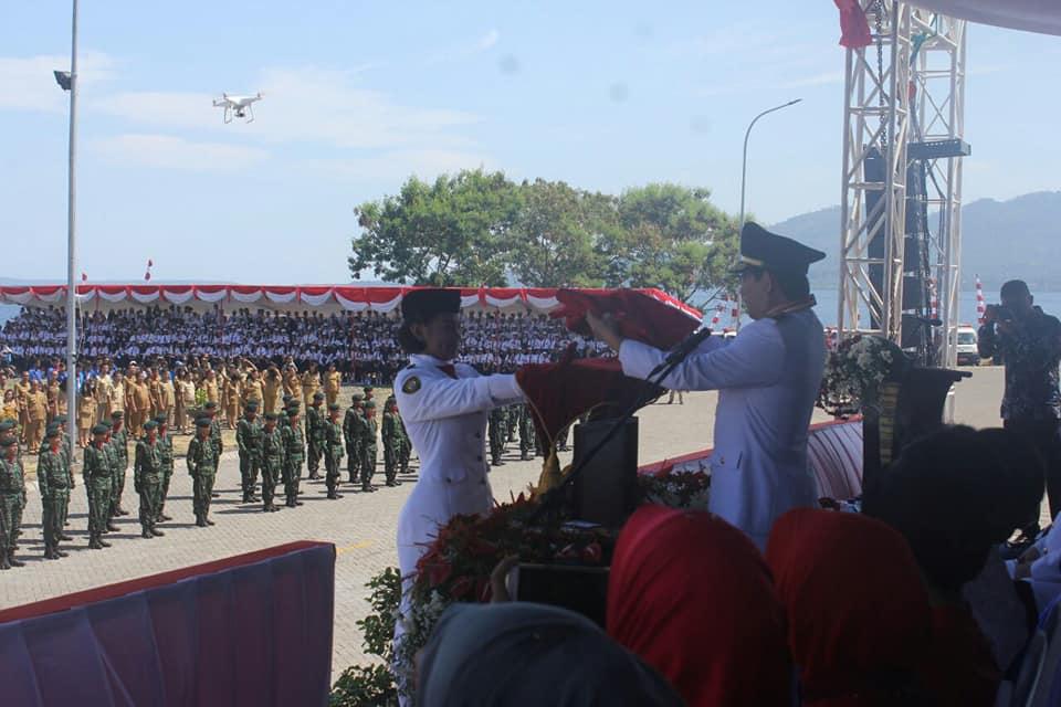 Inilah Rangkaian HUT ke-73 Kemerdekaan RI di Tepi Pantai Teluk Manado