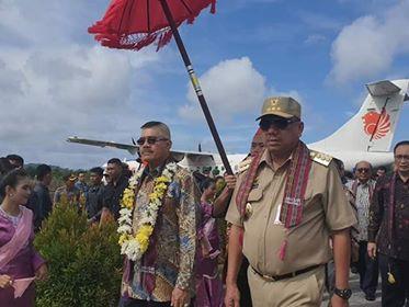 Kunjungi Melonguane, Ketua MA Bersama Olly Dondokambey Resmikan 85 Pengadilan se Indonesia