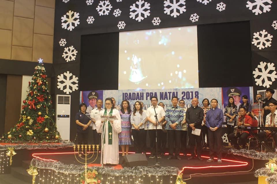 Pemkot Manado Gelar Ibadah Pra Natal di GBI Menorah