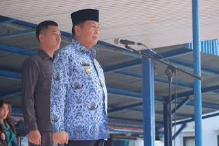 Apel Perdana 2019, Lomban : Segera Realisasikan Hak 2.900 Pegawai Bitung