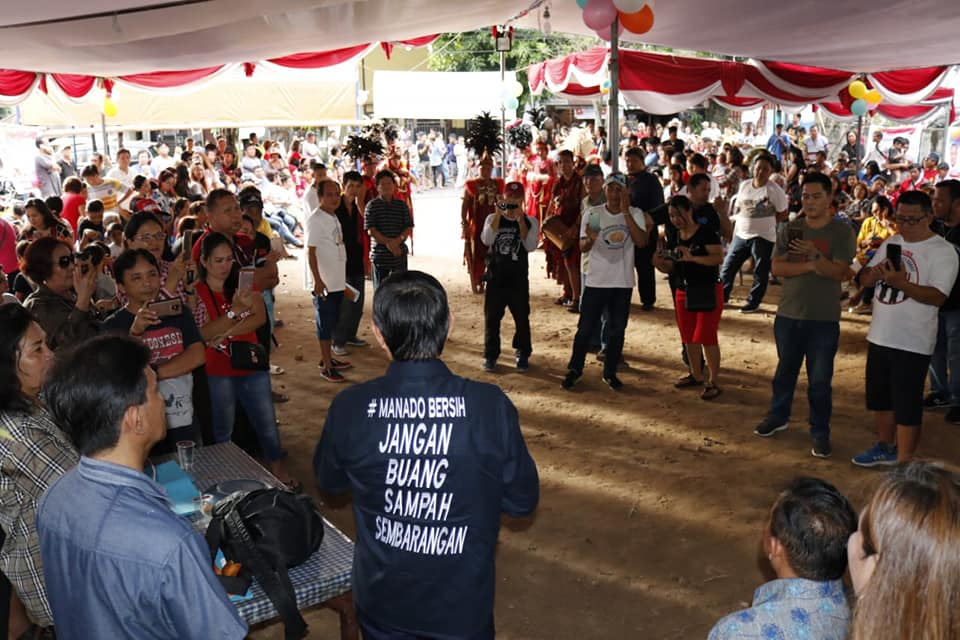 Hadiri Tradisi Kanci Taong, Walikota GSVL Ajak Warga Mahakeret Barta Jaga Kota Manado Aman dan Bersih