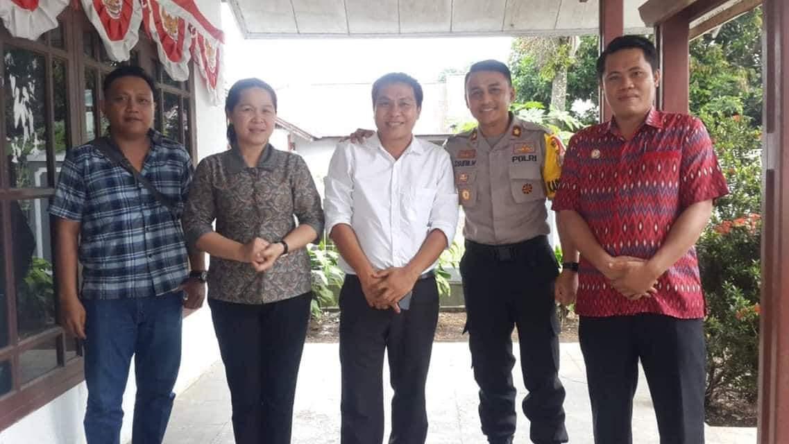 Kabag Ops Kontrol Pengamanan Kantor KPUD dan Bawaslu Minsel