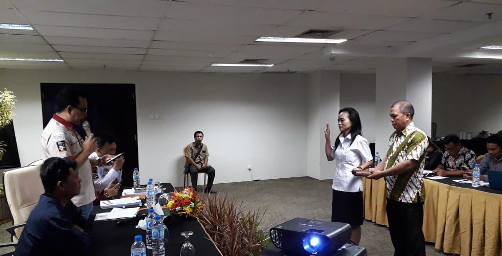 Ketua KPU Bitung Lantik Anggota PPK Matuari Hasil PAW