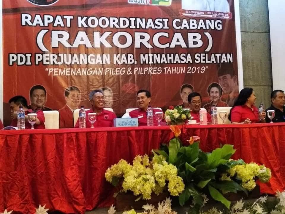 PDI-P Minsel Gelar Rakorcab Pemenangan Pemilu 2019