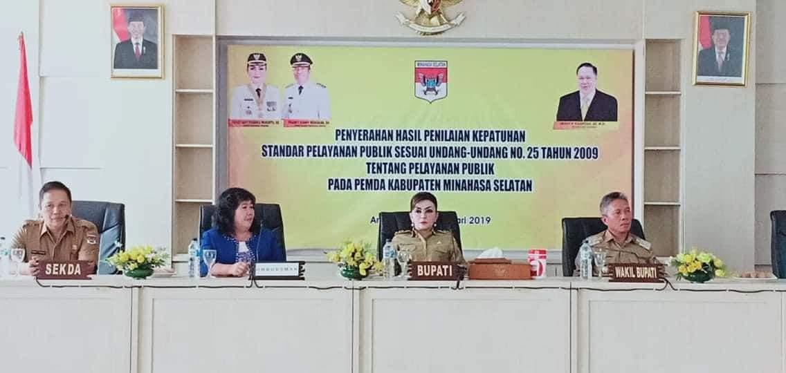 Ombudsman RI Perwakilan Sulut Gelar Pertemuan Bersama Pemkab Minsel