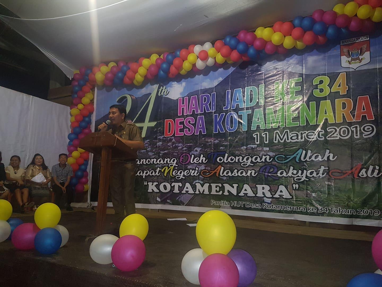 Lumapow Wakili Bupati Minsel Hadiri HUT Desa Kotamenara ke- 34