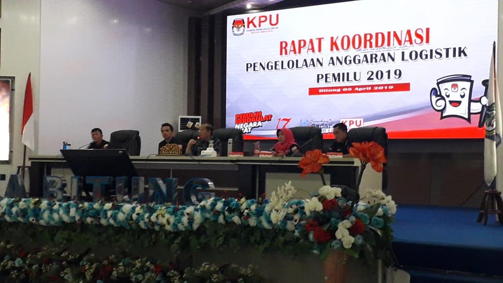 KPU Bitung Gelar Rakor Pengelolaan Anggaran Logistik Pemilu 2019