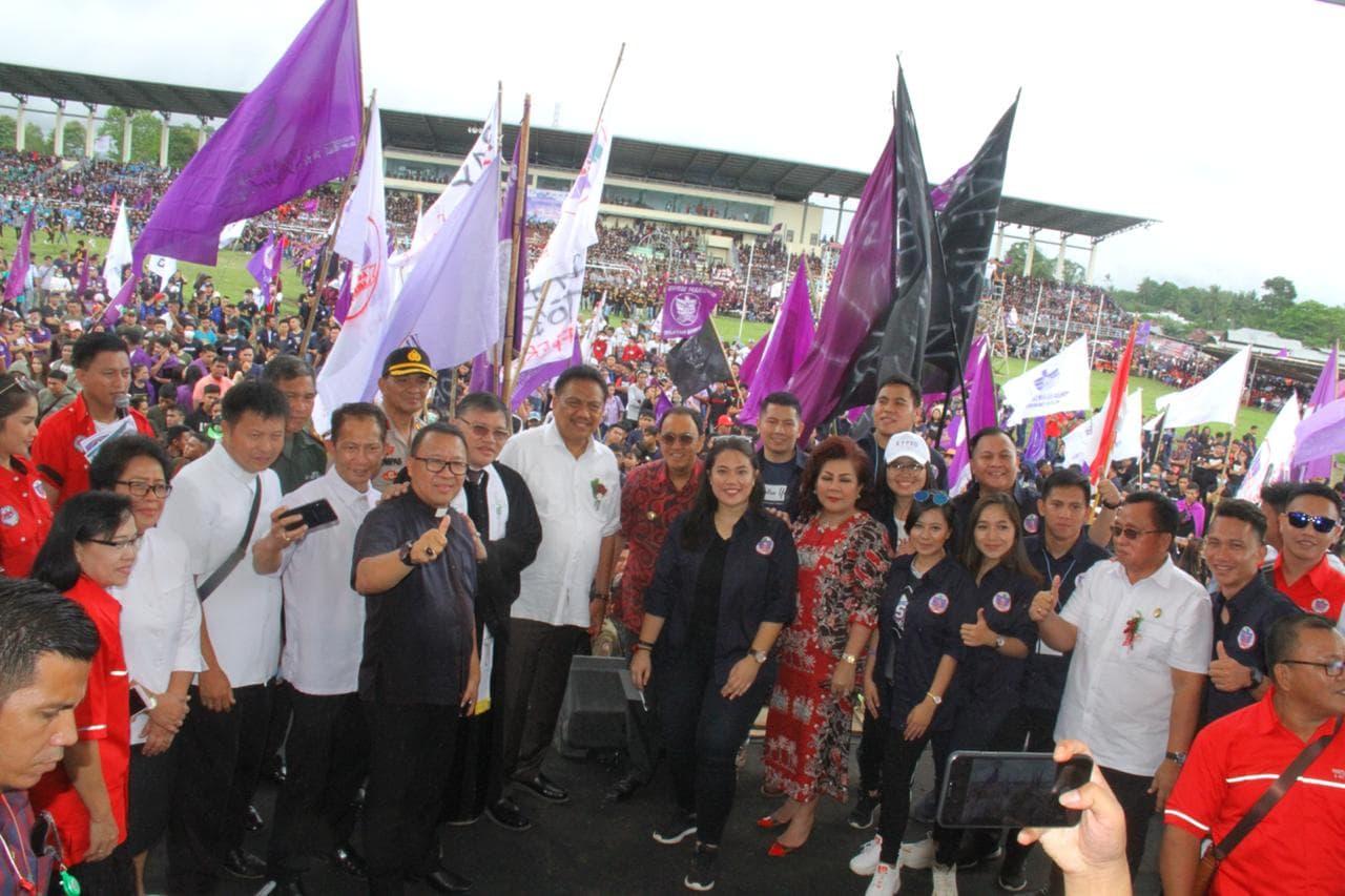 Dihadiri Gubernur, Minahasa Sukses Gelar Selebrasi Paskah Pemuda GMIM