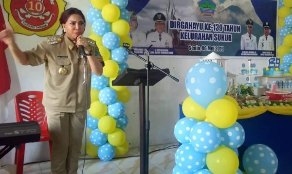 Bupati Panambunan Hadiri HUT Ke-139 Kelurahan Sukur