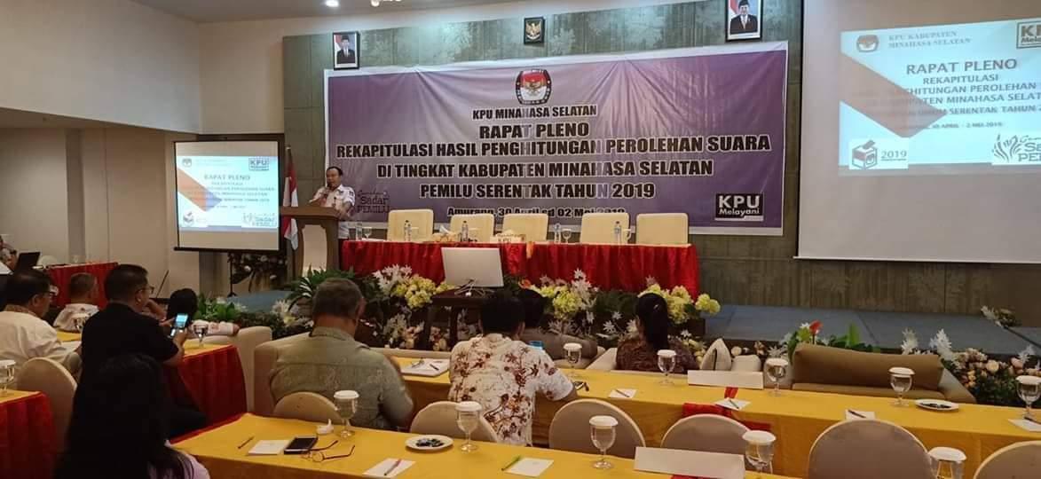 Pleno KPUD Minsel Dimulai, Puluhan Personil Polres Minsel Siaga