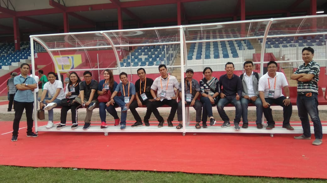Uji Coba Stadion Klabat, Manajemen-LOC Sulut United Jajal Tim Wartawan Sulut