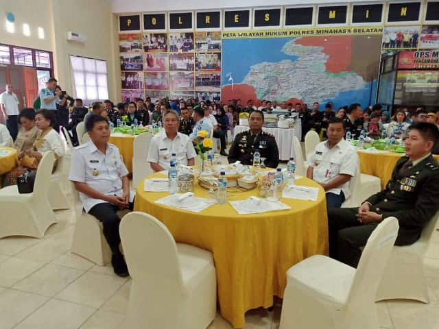 Hadiri HUT Bhayangkara ke-73, Wabup FDW Puji Kinerja Polri