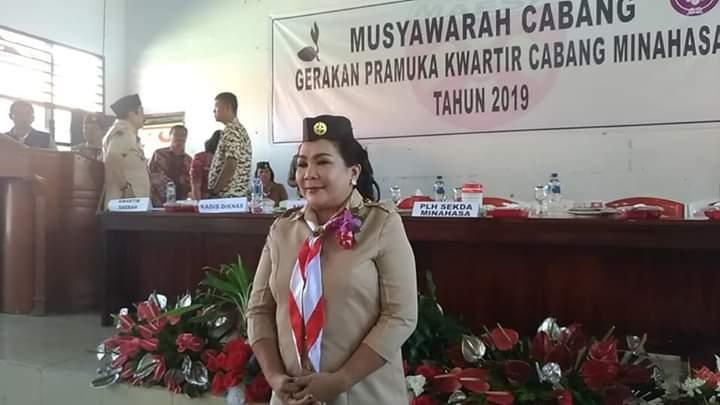 Fenny Lumanauw Nahkoda Baru Kwarcab Pramuka Minahasa