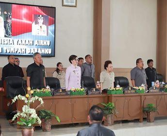 DPRD Minsel Gelar Paripurna Ranperda Tingkat Kesatu Tentang Perubahan APBD 2019