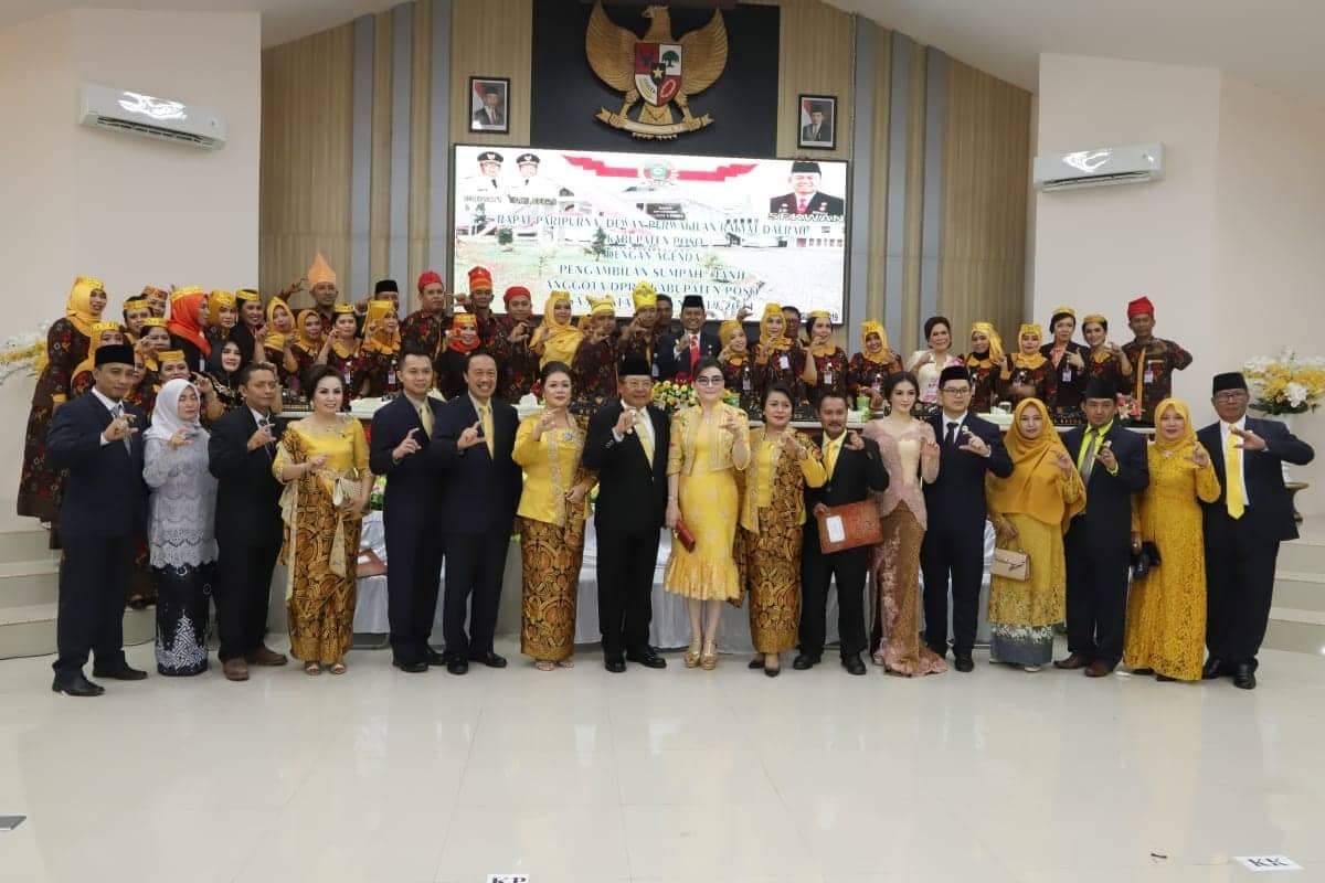 Diundang Khusus Pemkab Poso, Bupati Tetty Hadiri Pelantikan 30 Anggota DPRD Poso