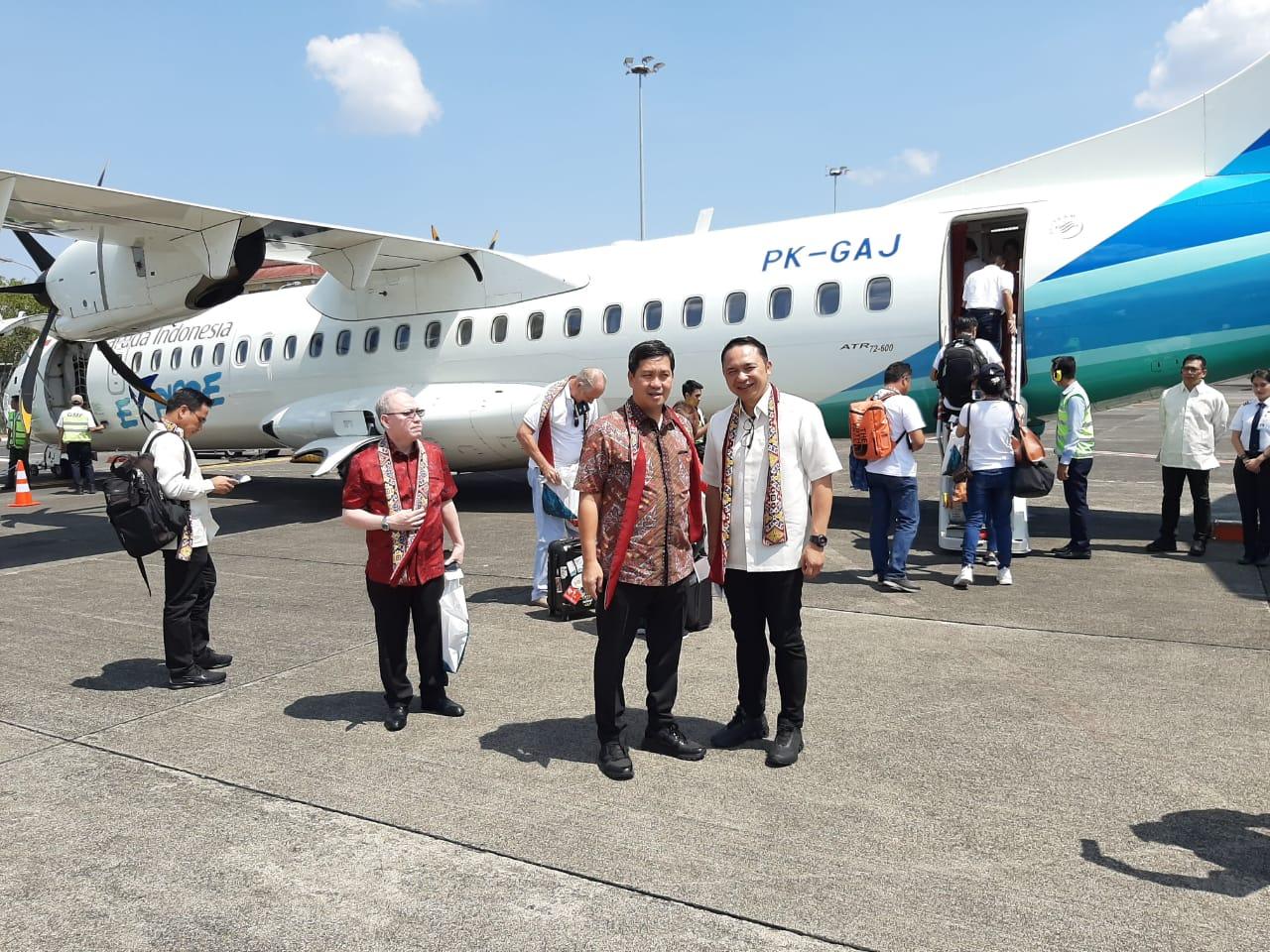 Sulut Expo, Penerbangan Perdana Manado-Davao Dibuka