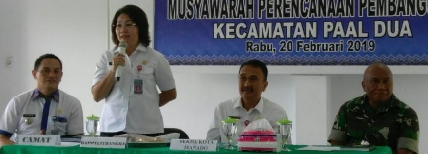 Musrenbang di Kecamatan Paal 2, Liny : RKPD terdapat 4 Program Prioritas