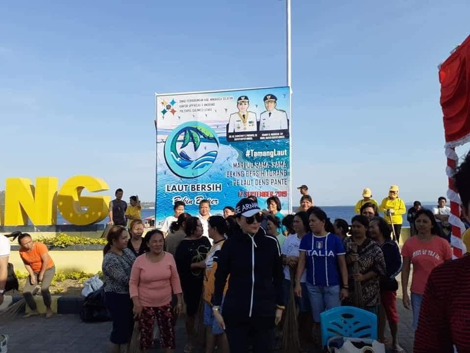 Hari Perhubungan, Bupati Minsel dan Direktorat Perhubungan Laut Gelar Bersih Pantai dan Laut