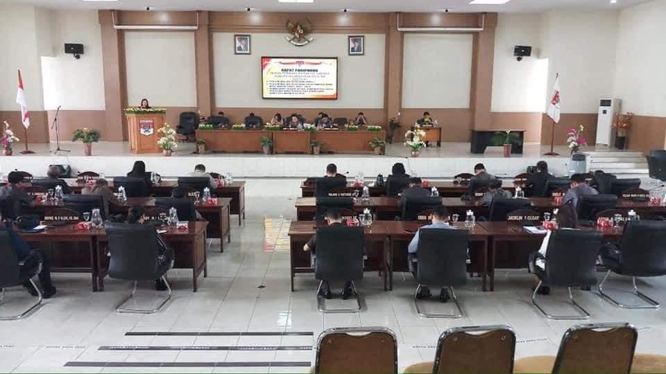 DPRD Minsel Umumkan Fraksi dan Calon Pimpinan Definitif Periode 2019-2024