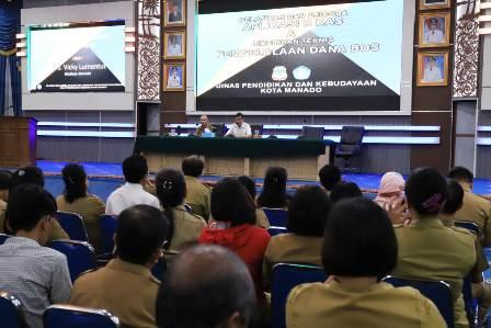 Pengelolaan dana BOS 2019, Walikota Manado Ingatkan SPM