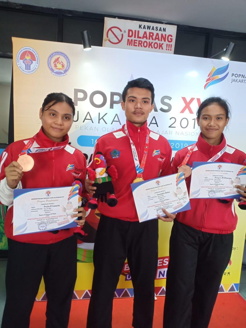 Sulut Raih Medali Emas Cabang Pencak Silat Popnas XV 2019