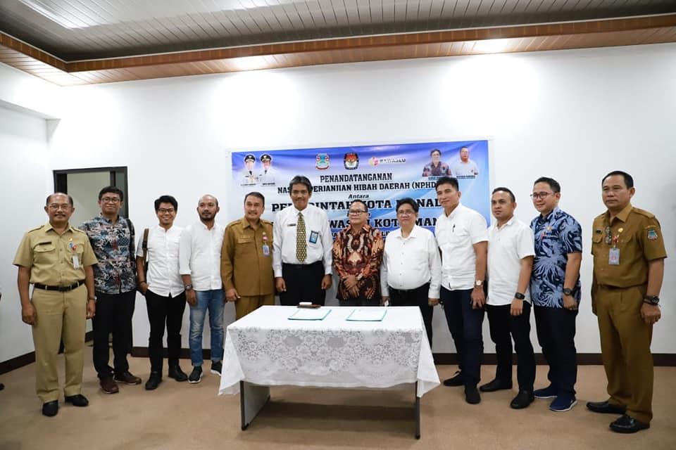 KPUD dan Bawaslu teken NPHD dengan Pemkot Manado