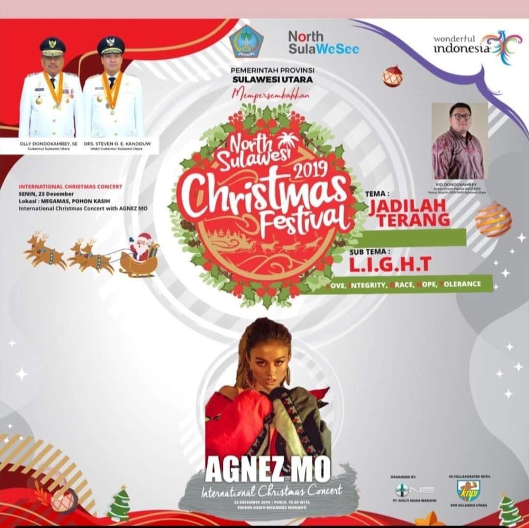 Rio Dondokambey Pastikan Agnez Mo Meriahkan Konser Natal di Manado