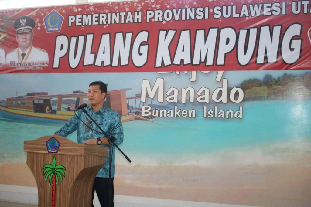 Wagub Sulut Steven Kandouw Lepas Mudik Gratis