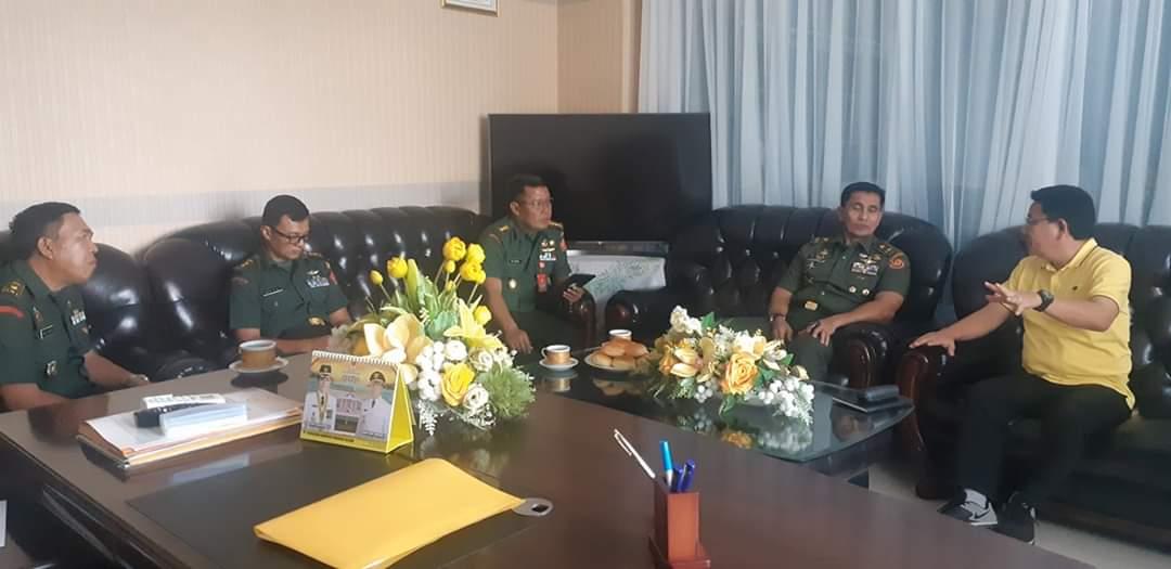 Wakili Bupati Minsel, Tangkere Terima Kunker Mabes TNI AD